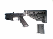 Complete AR-15 Lower Receiver With FAB GL-MAG Buttstock